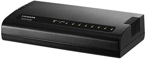 I-O DATA スイッチングハブ 8ポート ブラック|1000BASE-T(GigabitEthernet)対応|省電力機能付|ETG-ESH08KC