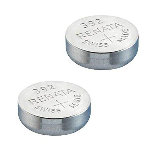 2 x Batterie Montre Renata poignet – Fabriqué en Suisse – Sans Piles oxyde d'argent 0% Mercure Renata Pile bouton 1,55 V piles longue durée