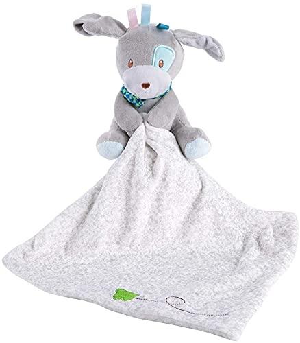 Toalla para bebé con diseño de animales de dibujos animados, adorable, suave, cuadrada, de seguridad, para bebé, para pacificar (color: perro)