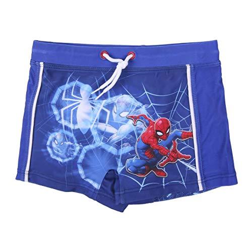 Spiderman Pantaloncini da Bagno per Bambino, Costume Mare Boxer Slip Calzoncini da Bagno, Traspirante ad Asciugatura Rapida, Taglie 4 Anni