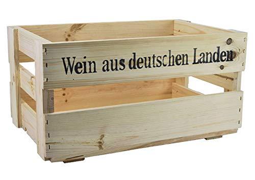 Hochwertige und sehr robuste Weinstiege - Weinkiste - Weinsteige - Holzkiste - Lagerbox - Kiste - Stiege
