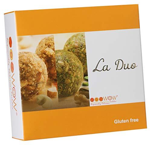 Wowladdus - Wow La Duo laddus - 140 grams - 4 pieces - Gluten Free - Nutritious Feel Good Snacks