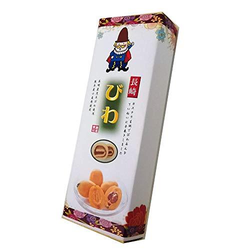 長崎茂木びわあん巻 細箱×1箱 イソップ製菓 カステラ生地でびわあんを手巻きにした郷土菓子