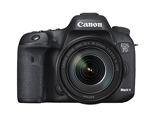 Canon EOS 7D Mark II Digital SLR Camera with EF-S 18-135mm is USM Lens Wi-Fi Adapter Kit (Renewed)