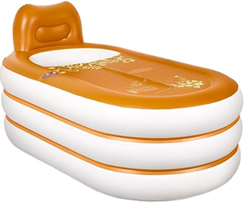 Sgtrehyc Aufblasbare Badewannen-Badewannen-Erwachsene faltende Plastikbadewanne-Badewannen-Erwachsene Bad-Fass-Wanne, Handpumpe