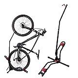 Bike Rack Wall, LARNOR Bikes Stand Floor, 1 Pk, Black, Red, for Vertical/Horizontal Indoor Mountain Bike,Space Saving Road Bike Storage, Freestanding, Gravity Stands, Upright (Black)