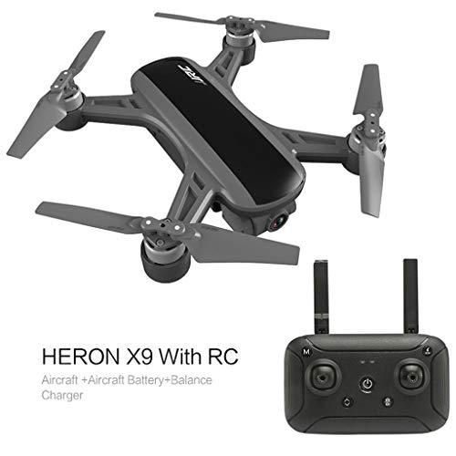 FANORAD Quadcopter JJR/C Heron X9 GPS 5G WiFi FPV RC Reiher Drohne Aircraft 1080P HD Kamera Quadcopter RTF , Flugspielzeug (14.8 x 14.5 x 6cm, Schwarz)