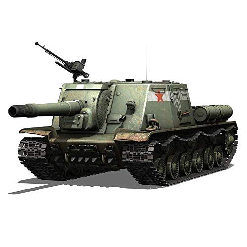 WCY Puzzle Tanque Militar Kits Modelo, 1/35 Escala Soviética ISU-152 Asalto Self_Propelled Arma del Tanque de Rompecabezas Juguetes yqaae