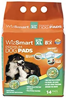 WizSmart All Day Dry Premium Dog and Puppy Training Pads, Made with Recycled Unused Baby Diapers and Eco Friendly Materials