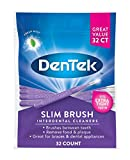 DenTek Slim Brush Interdental Cleaners | Brushes Between Teeth | Extra Tight Teeth | Mouthwash Blast Flavor | 32 Count (packaging may vary)