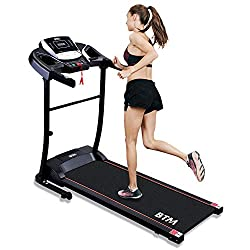 【Powerful 1.5 HP Motor】A smooth and quiet 1.5HP treadmill motor supports speeds ranging from 0.8 – 12 KM/H (0.5 – 7.5 MPH), with minimal noise and maximum power, ideal for home workouts without disturbing your family or neighbors.12 preset programs a...