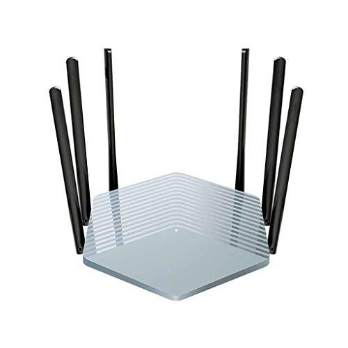 QPALZM Router Dual Banda Wi-Fi Gigabit,con6 Antena Externa,4 Puertos Megabit,Gestión Inteligente de Aplicaciones,Router WiFi Inteligente de Largo Alcance, MU-MIMO, procesador de 28nm