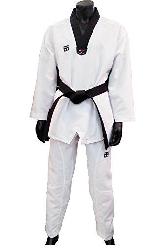 Mooto Extera s5 v-Cuello Uniforme de Taekwondo para Hombre 190 (US5) (5,90~6.23ft o 180~190 cm) Negro con Cuello en V