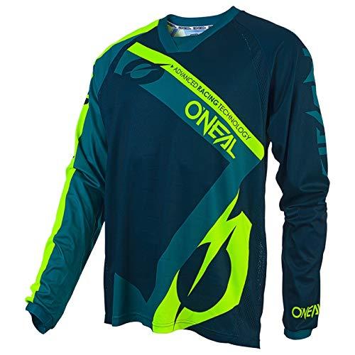 O\'NEAL | Motocross-Shirt | Motorrad Enduro | Atmungsaktives Material, Flexibler und belüfteter Rundkragen, lockere Passform | Element FR Jersey HYBRID | Grün | Größe M