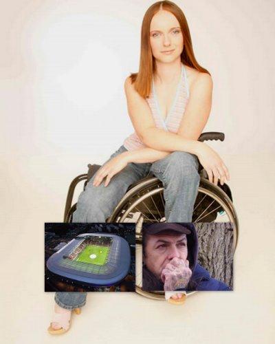 Ein Engel im Rollstuhl