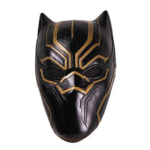 hcoser mscara de Pantera Negra Black Panther para Carnaval y Disfraz de Halloween de ltex para Adultos