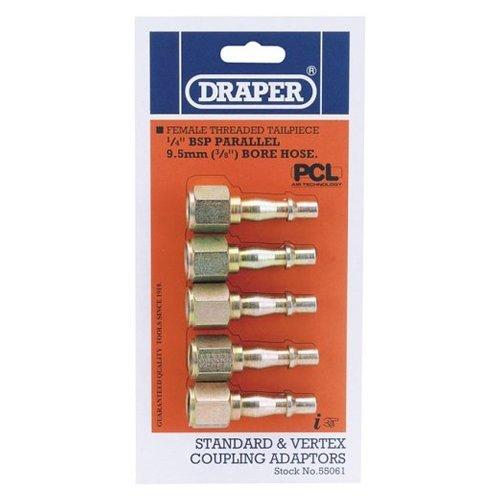 Draper Air Tools 55061 Jeu de raccords pneumatiques standard et Vertex 9,5 mm (Import Grande Bretagne)