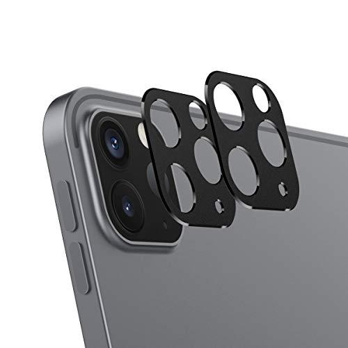 MoKo [2PZS Protector de Lente Compatible con iPad Pro 12.9 2021/2020 & iPad Pro 11 2021/2020, Anillo Protector Metálico para la Cámara Trasera de Aleación de Aluminio Súper Anti-Arañazos - Negro ✅