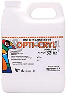 Opticryl Dental - Heat Cure Monomer Only 32oz/Quarter Gallon (Acrylic Resin Liquid) veracryl - This Product can only be Shipped by Ground Transportation- it Cannot be shippe 100250 Us Dental Depot