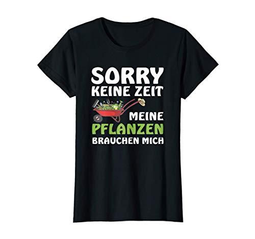 Damen T-Shirt lustig Geschenk für Hobbygärtnerin meine Pflanzen T-Shirt