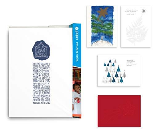 UNICEF - Pack de 10 Tarjetas de Navidad, Colección Arte 11