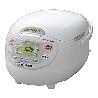 Zojirushi NS-ZCC18 10 cup Neuro Fuzzy Rice Cooker and Warmer In Premium White (B000A7NN4I) | Amazon price tracker / tracking, Amazon price history charts, Amazon price watches, Amazon price drop alerts