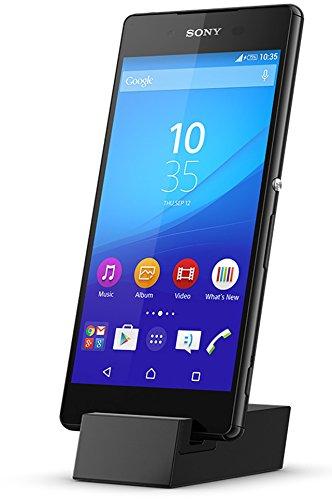 Sony Mobile DK52 Micro USB Dockingstation Ständer Stand Kompatibel mit Sony Xperia Z5/Z5 Compact/Z5 Premium/Z5 Premium Dual, Z3+/ Z3+ Dual, M5/M5 Dual und C5 Ultra/C5 Ultra Dual - Schwarz
