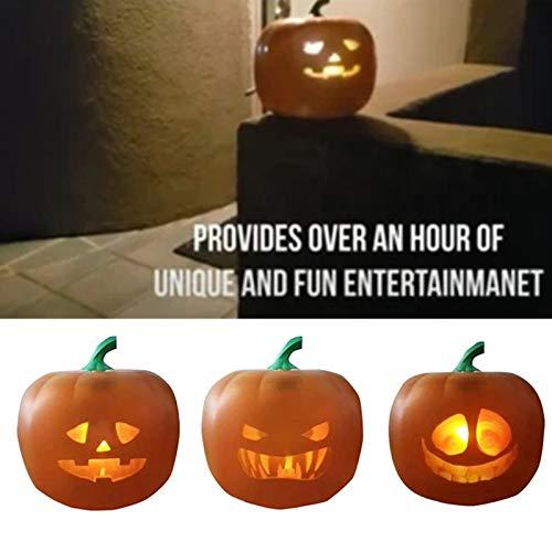 Aemiy Halloween Flash Talking Animated LED Pumpkin Projection Lamp Jack-O-Lantern Pumpkin Lights for Home Party
