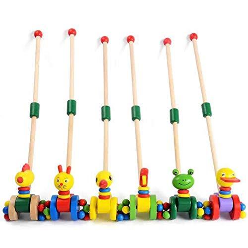 Frühkindliche Bildung Spielzeug Aus Holz Kinderwagen Cartoon Ente Kinderwagen Hilft Baby Praxis Walking Übung Muskeln