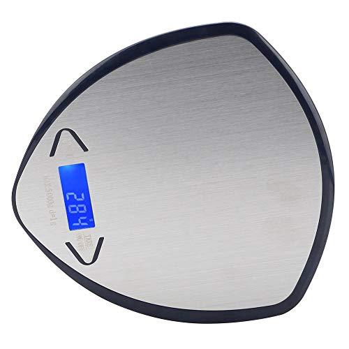 Mini báscula, balanza de medición de peso LED, portátil 5 kg / 1 g para restaurante, hogar, cocina, cafetería(Navy blue, 5KG/1g)