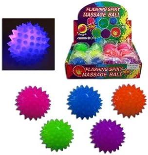 COOLMP - 1x - Balle LED de Massage à Picots Ø 6,5cm Coloris Assortis