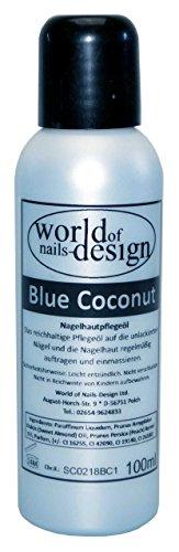 World Of Nails Design pflegendes Nagelöl Blue Coconut für die ganze Familie mit dem Duft von Kokos 100 ml