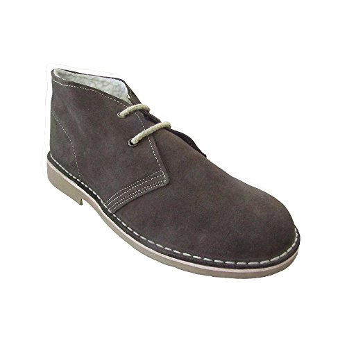 807FB Safari Stiefel mit Futter aus Borreguillo Marengo, Grau - Meliert - Größe: 40 EU