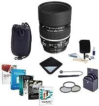 Nikon 105mm f/2 AF-D DC NIKKOR Telephoto Lens Bundle with 72mm Filters & Pro Software