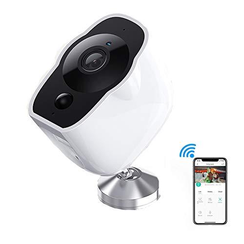 1080P HD Wifi Cámara IP Inalámbrico Casa Cámara Seguridad Con Visión Nocturna, Detección Movimiento, Audio Bidireccional, USB Incorporado Recargable Batería De Litio, Monitor Para Bebé Elder Pet