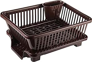 Raawan 3 in 1 Large Durable Plastic Kitchen Sink Dish Rack D
