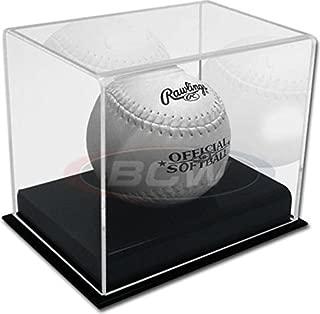 BCW Deluxe Acrylic Softball Display - Sports Memorabilia Display Case or Holder