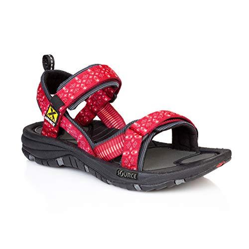 Source Gobi dames sandalen, rood, maat 41