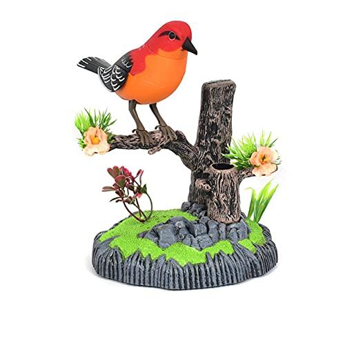 NB Toking Parrot Toy, pronunciación de activación Juguete eléctrico, Juguete Educativo para niños, simulación de canción de Aves con Swing, con Soporte de Pluma de Almacenamiento