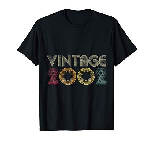 19 Cumpleaños Hombre Mujer 19 Años Vintage 2002 Camiseta