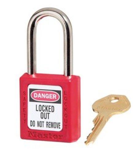Master Lock 410KARED Keyed-Alike Safety Lockout Padlock, Red