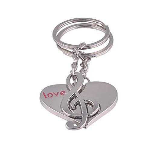 Amosfun Moda Nota Musical en Forma de corazón Colgantes Bolsa Coche L
