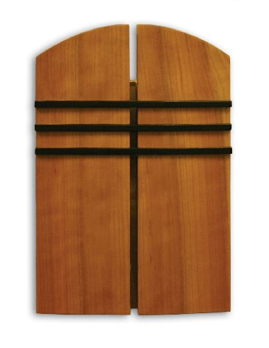Heath Zenith 85 Wired Door Chime with Oak Stained Solid Birch Cover and Black Accent Lines