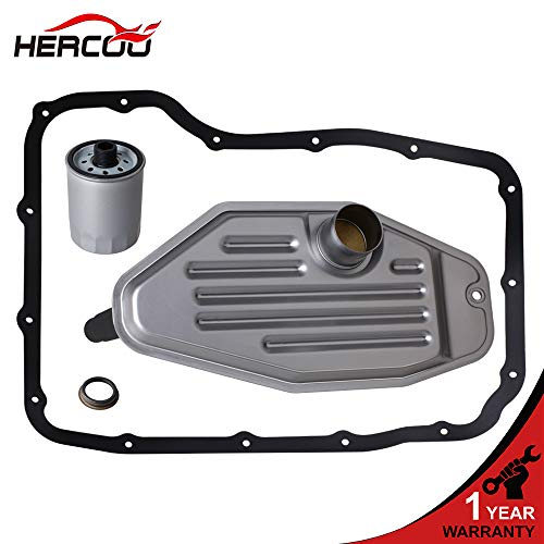 HERCOO 1999-UP 45RFE 545RFE 65RFE 66RFE 68RFE Automatic Transmission 4WD 4X4 Filter Kit Deep Pan Compatible With Dodge Ram 1500/2500/3500 Dakota Durango, Jeep Commander Grand cherokee Liberty