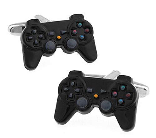 BEPM Gamepad Manschettenknöpfe 3 Stile Option Lustiges Joystick-Design-1