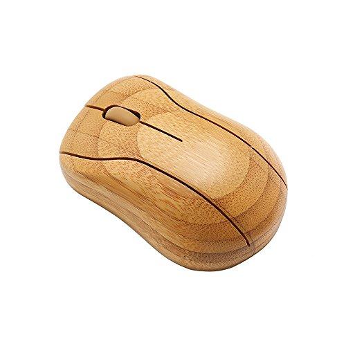 Sengu handgefertigt optische Maus aus Bambus natürlicher farbton MG95-Wireless