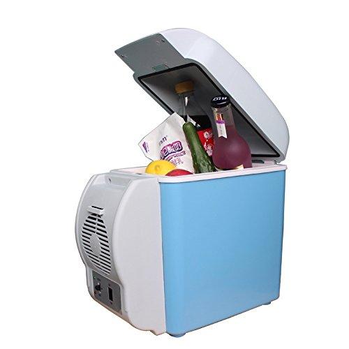 JKA Mini réfrigérateur de voiture 7,5 L 12 V Glacière de voiture Double usage chaud / froid Petit congélateur