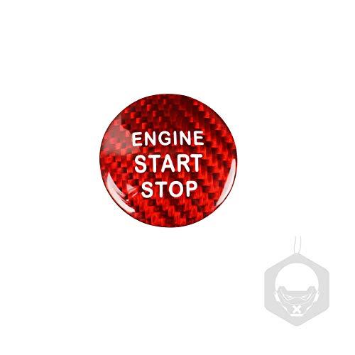 MIAOHAO Etiqueta engomada Arranque Coche Cubierta de botón de Parada de Motor de Motor de Fibra de Carbono, Pegatinas de Encendido sin Llave, para L-E-X-U-S NX200 NX300 GS ES200 ES250 CT RX300