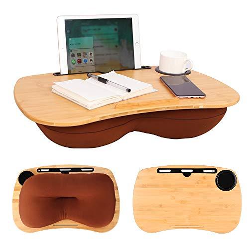 CSYY - Bandeja para portátil con orificio para cable, ranura para medios y soporte para bebidas, cojín para portátil de 17 pulgadas