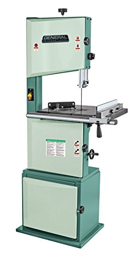 """GENERAL INTERNATIONAL 14"""" Wood Cutting Bandsaw - 1 HP Floor Standing Band Saw with 0-45° Tilting Table & Multiple Cutting Speeds - 90-120 M1"""